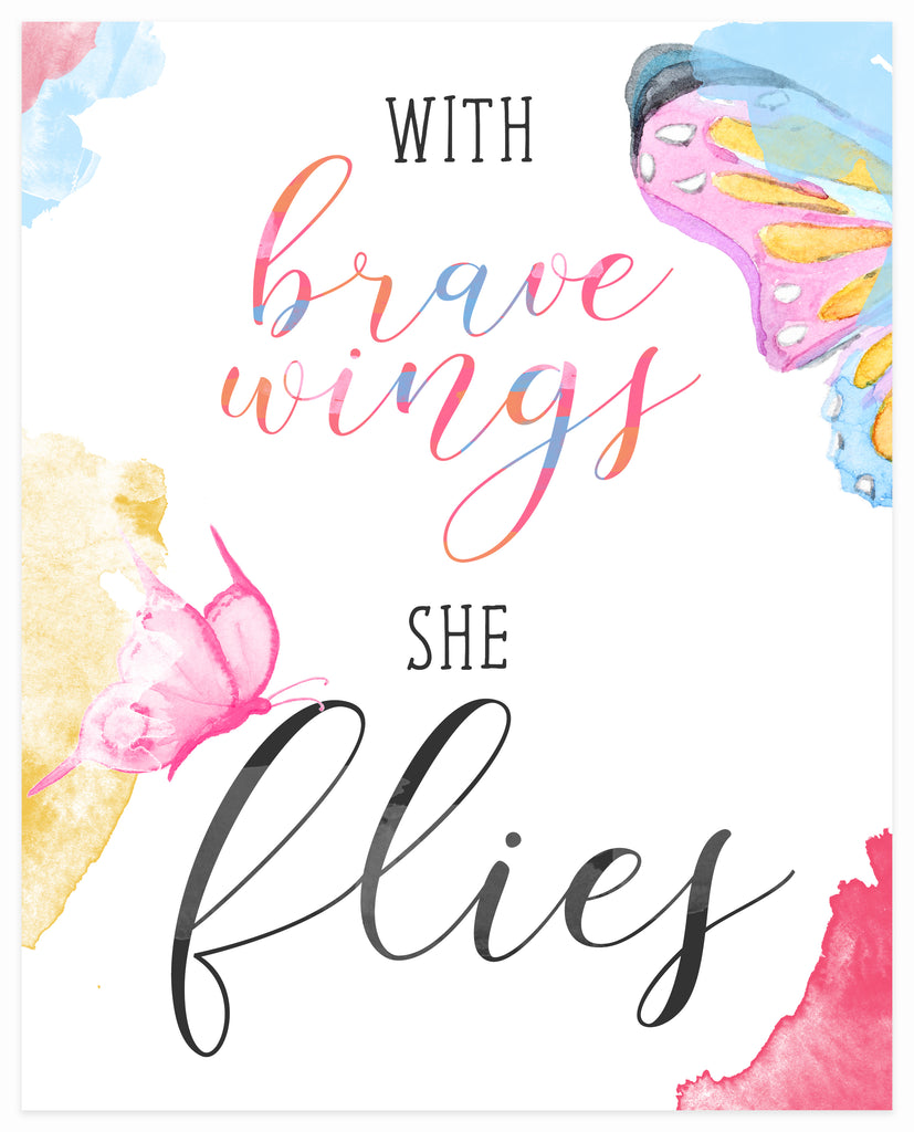 """With Brave Wings She Flies"" 8x10 Art Print"