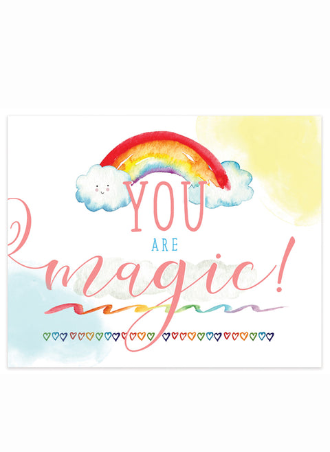 """You Are Magic"" Rainbow 8x10 Art Print"