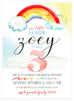 Rainbow Invitation by Kitty Meow Boutique