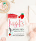 Strawberry Invitation by Kitty Meow Boutique