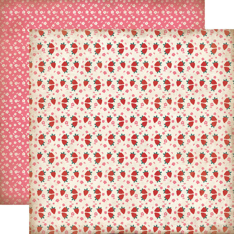 Party Paper Placemat in Strawberry Print