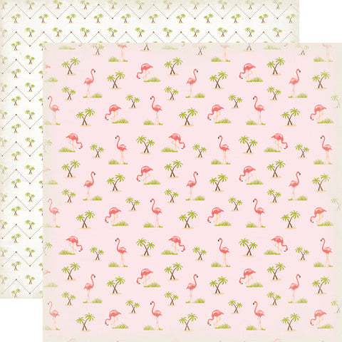 Party Paper Placemat in Flamingo Print