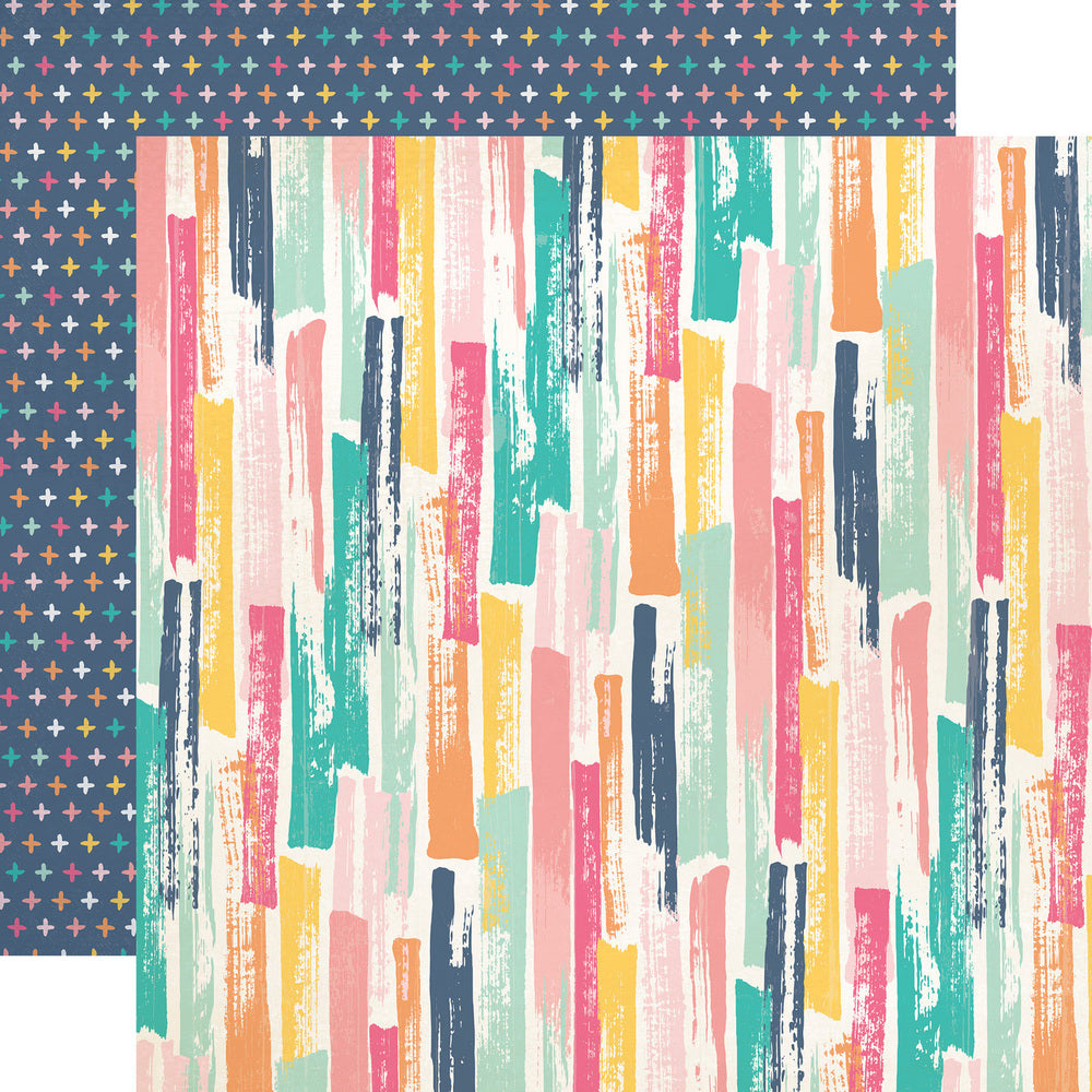 Party Paper Placemat in Painted Strokes Print