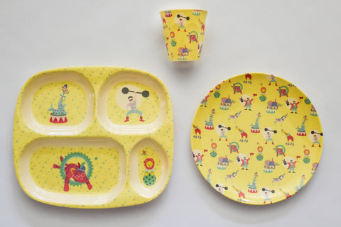 Circus Place Setting Set in Yellow
