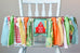 Little Farmer 1st Birthday High Chair Banner Bundle in Green