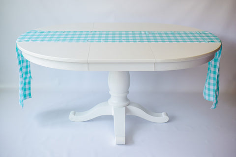 Gingham Runner in Mint