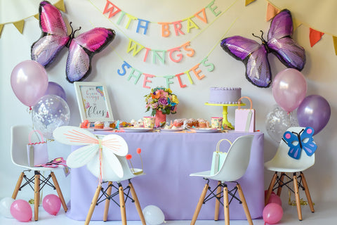 """With Brave Wings She Flies"" Butterfly Birthday Bundle"