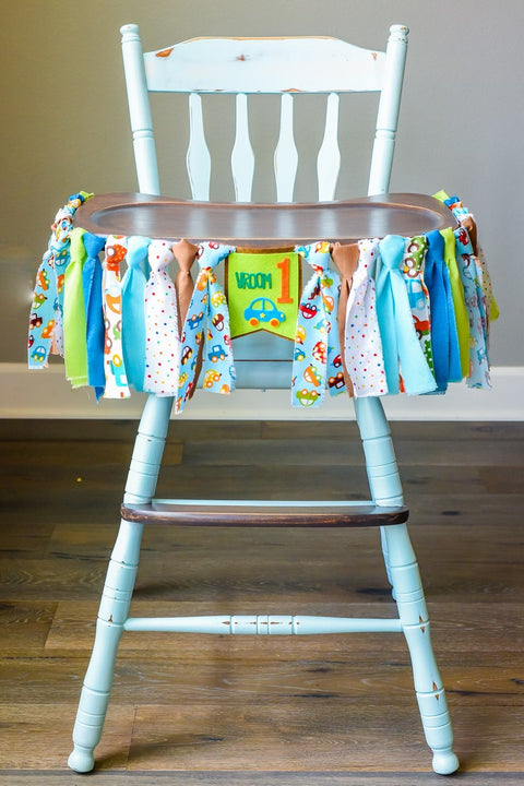 Car High Chair Banner Handmade by Sugar Moon Bloom