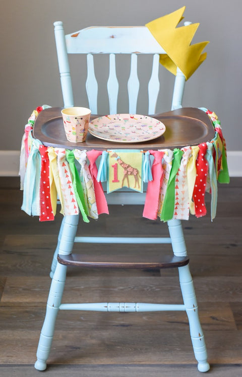 Circus 1st Birthday High Chair Banner Bundle in Pink