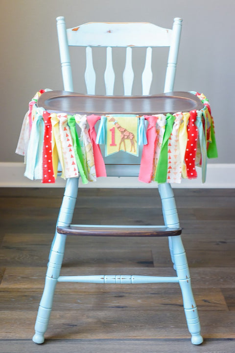 Circus High Chair Banner Handmade by Sugar Moon Bloom