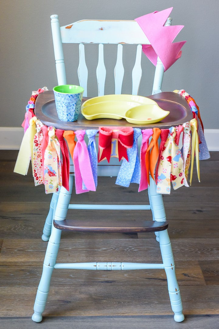 Little Birdie 1st Birthday High Chair Banner Bundle
