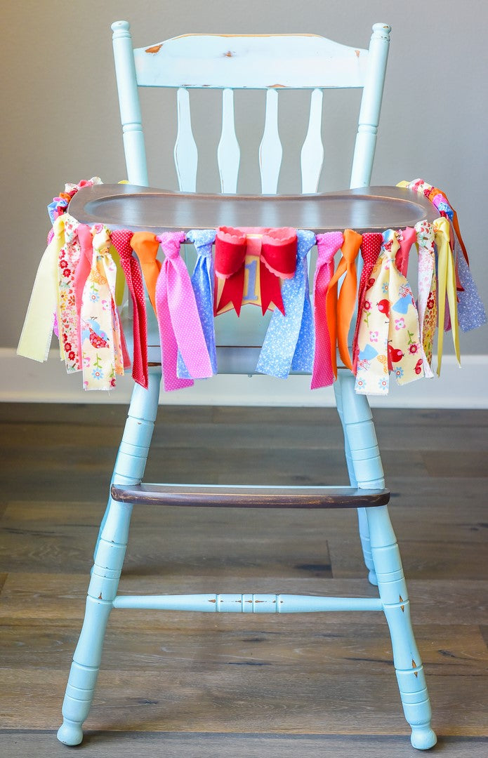 Little Birdie High Chair Banner Handmade by Sugar Moon Bloom