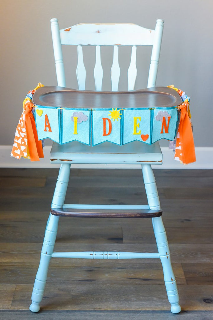 You Are My Sunshine High Chair Banner With Custom Name Option Handmade by Sugar Moon Bloom