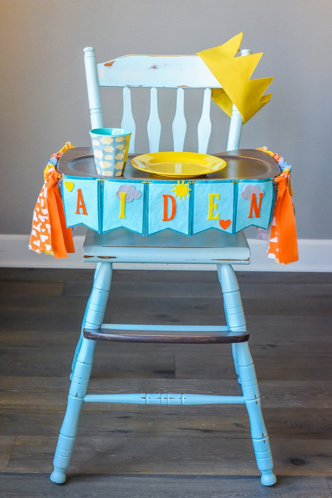 You Are My Sunshine 1st Birthday High Chair Banner Bundle