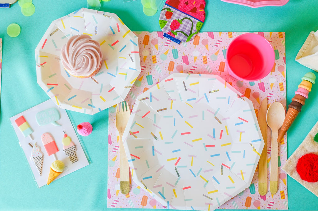 Party Paper Placemat in Summer Ice Cream Print
