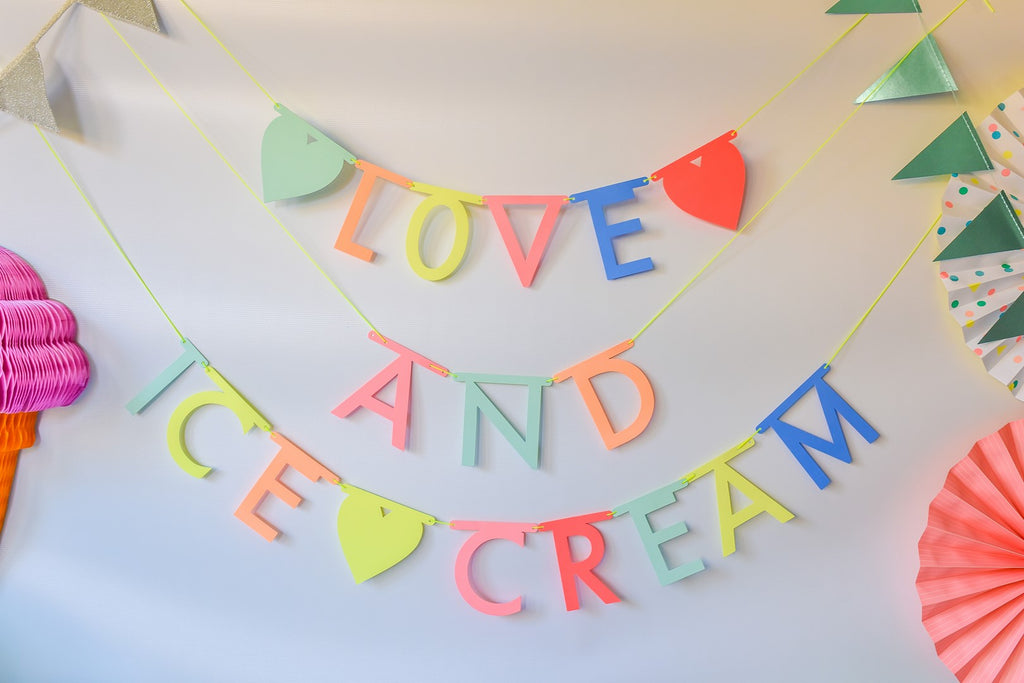 """All You Need is Love and Ice Cream"" Ice Cream Birthday Bundle"