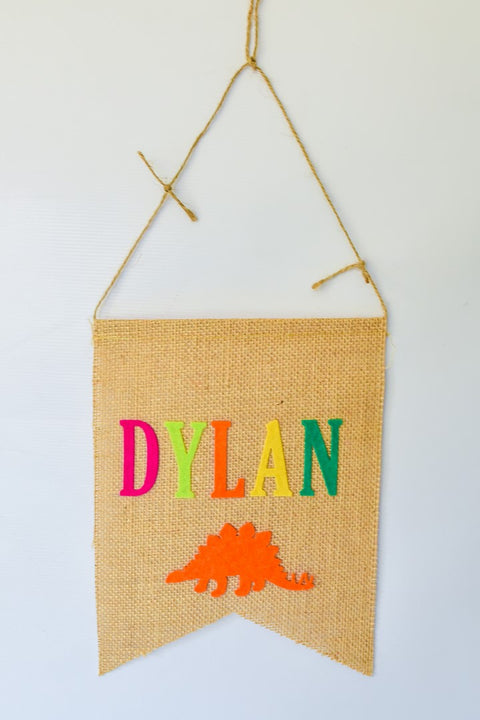 Burlap + Felt Name Banner Handmade by Sugar Moon Bloom