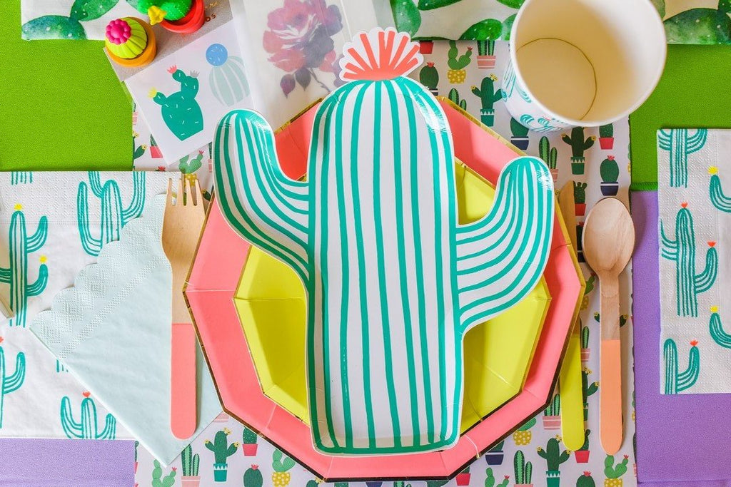Party Paper Placemat in Cactus Print