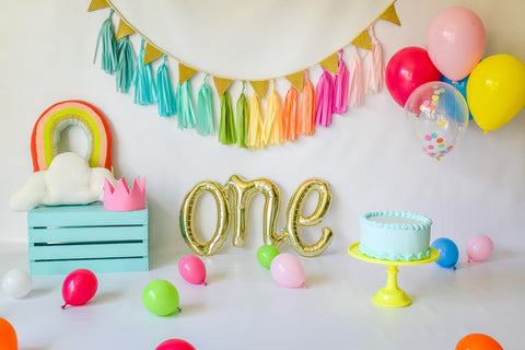 """Rainbow Baby"" Smash Cake Bundle in Pink"