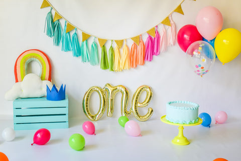 """Rainbow Baby"" Smash Cake Bundle in Blue"