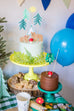 3 Green Trees Felt Cake Banner Handmade by Sugar Moon Bloom