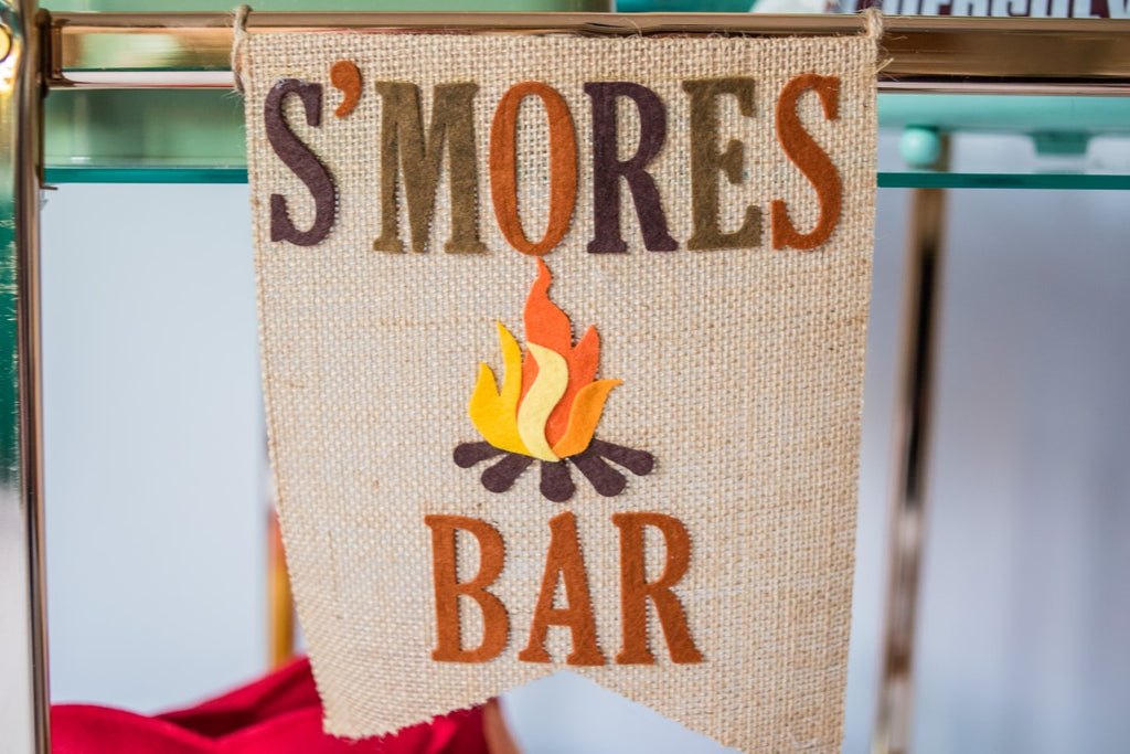 S'mores Bar Banner Handmade by Sugar Moon Bloom