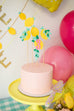 Lemonade Birthday Party Cake Topper