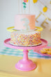 Pink Cake Stand and Number 3 Birthday Candle