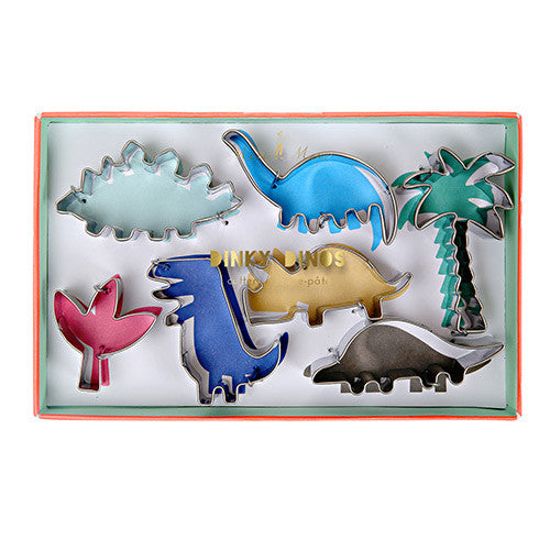 Mini dinosaur cookie cutters