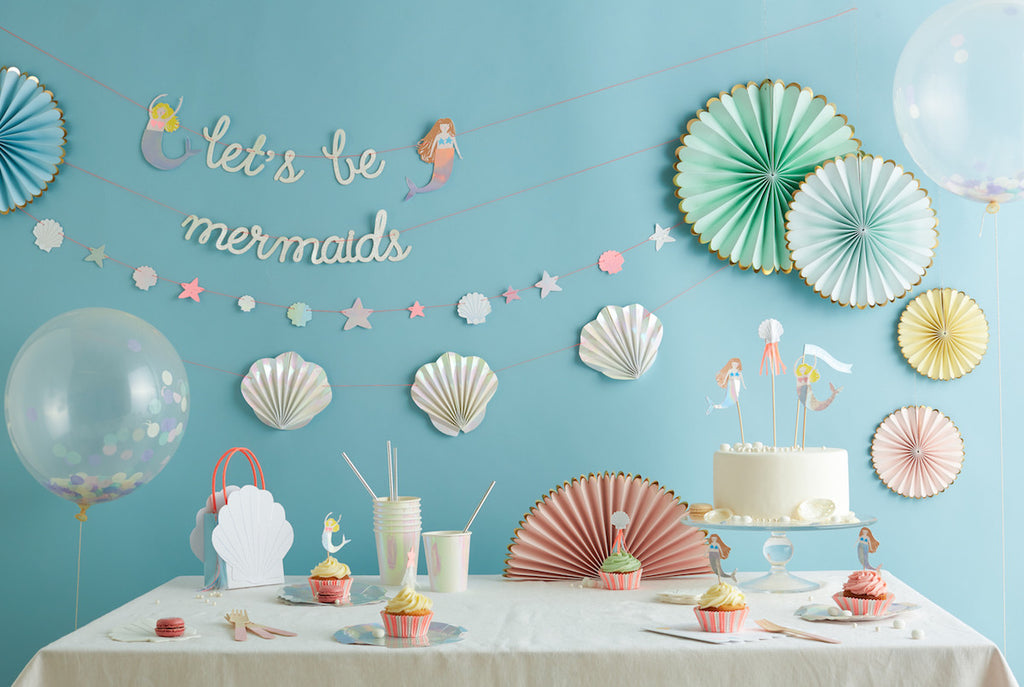 """Let's Be Mermaids Wild & Free"" Mermaid Birthday Bundle"