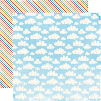 Party Paper Placemat in Blue Sky Print
