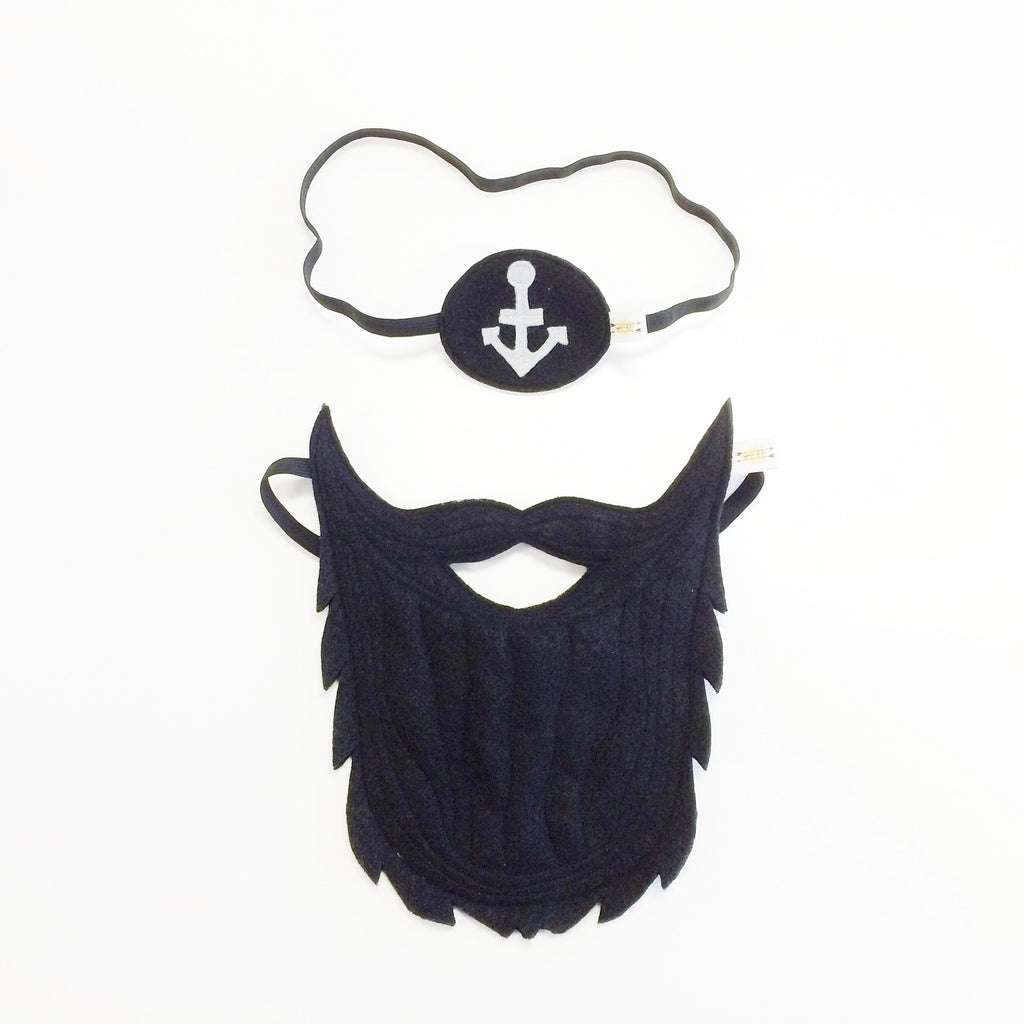 Pirate Beard + Eye Patch