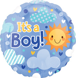 """It's A Boy"" Sky Mylar Balloon"