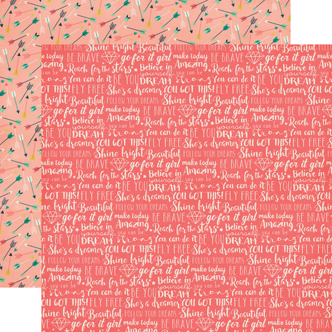 Party Paper Placemat in Dream Big Print
