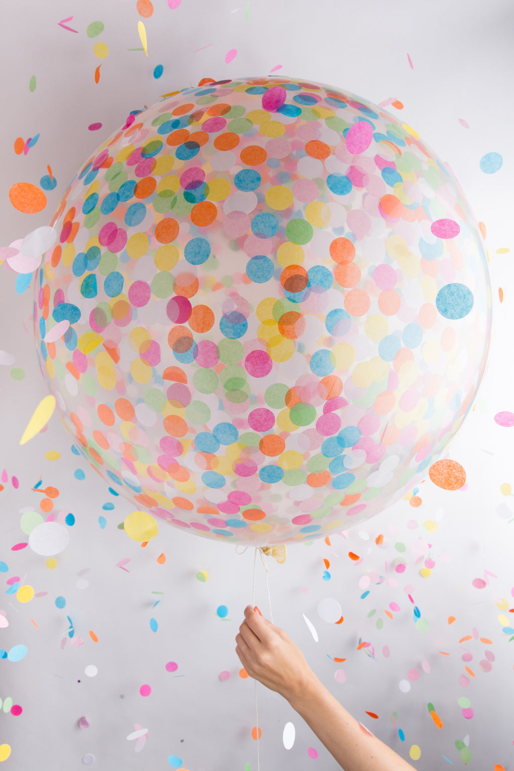 "36"" Jumbo Confetti Balloon in Multicolor"