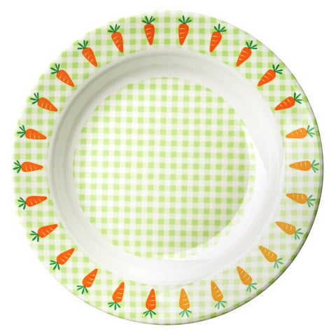 Melamine Bowl in Gingham & Carrot Print
