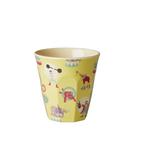 Toddler Small Melamine Cup in Yellow Circus Print