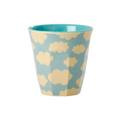 Toddler Small Melamine Cup in Two Tone Weather Cloud Print
