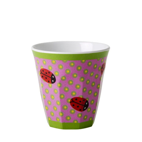 Toddler Small Melamine Cup in Ladybug Print