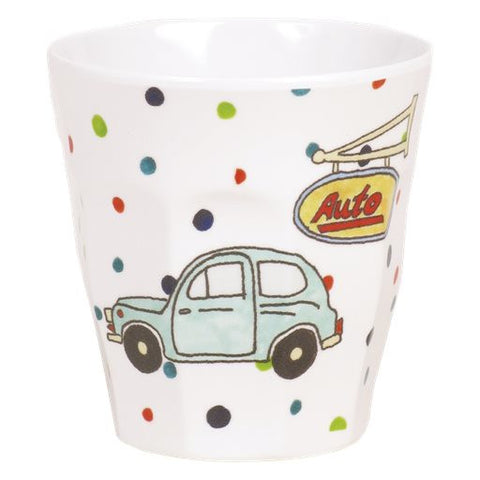 Toddler Small Melamine Cup in Car Print