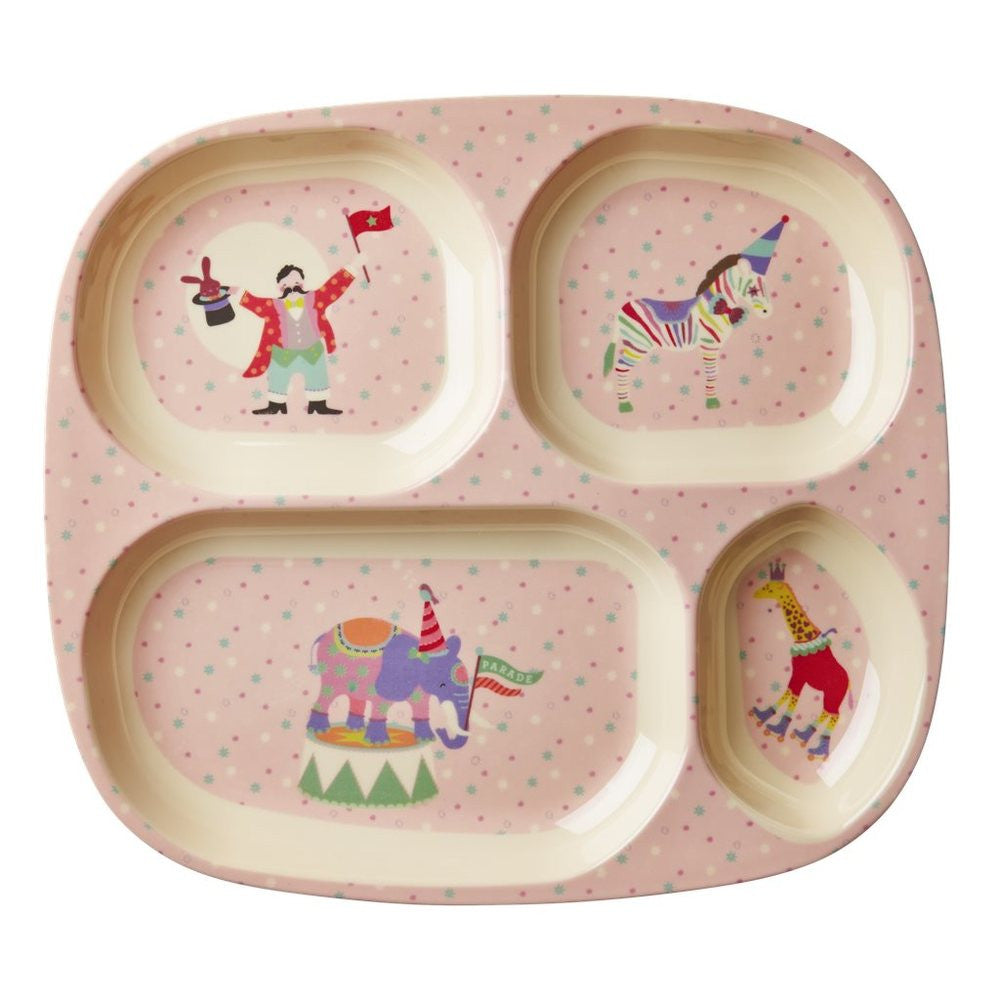 Circus Divided Plate for Toddlers in Pink
