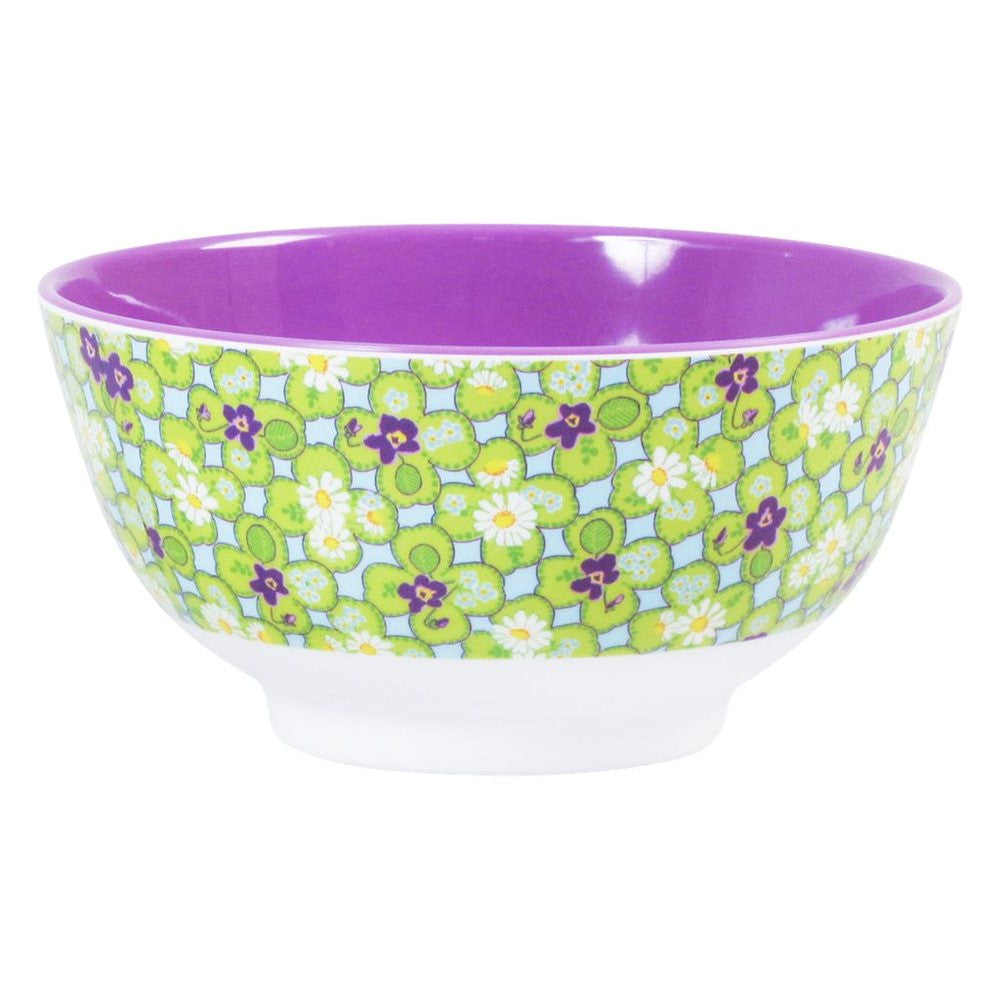 Melamine Bowl in Two Tone Clover Print