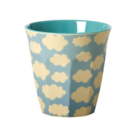 Medium Melamine Cup in Two Tone Weather Cloud Print