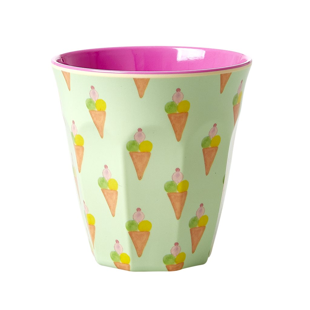 Medium Melamine Cup in Ice Cream Print