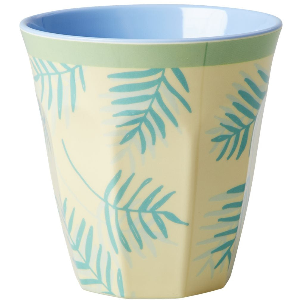 Medium Melamine Cup in Two Tone Palm Print