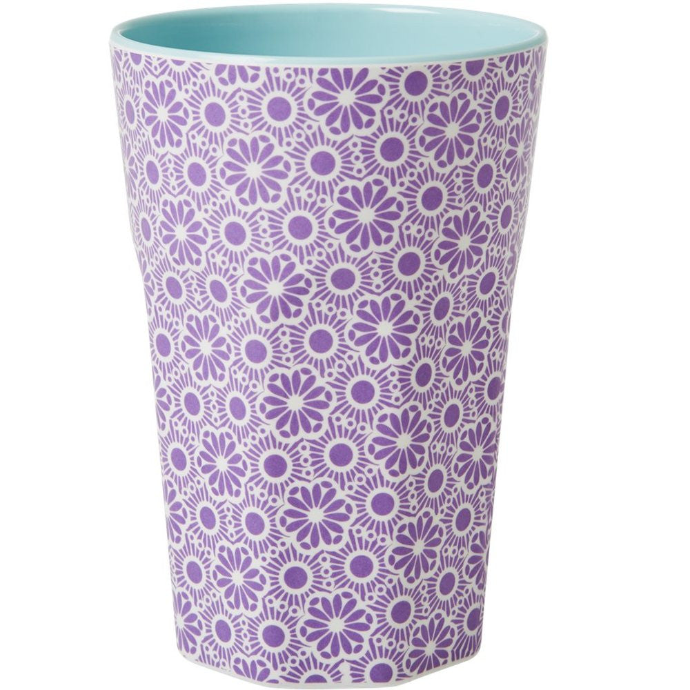 Tall Melamine Cup in Two Tone Marrakesh Print