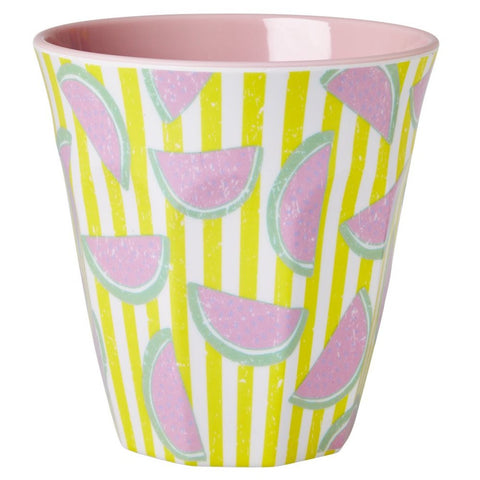 Medium Melamine Cup in Two Tone Watermelon Print