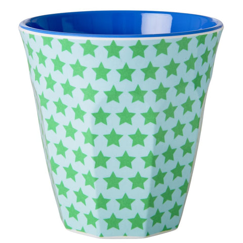 Medium Melamine Cup in Two Tone Star Print
