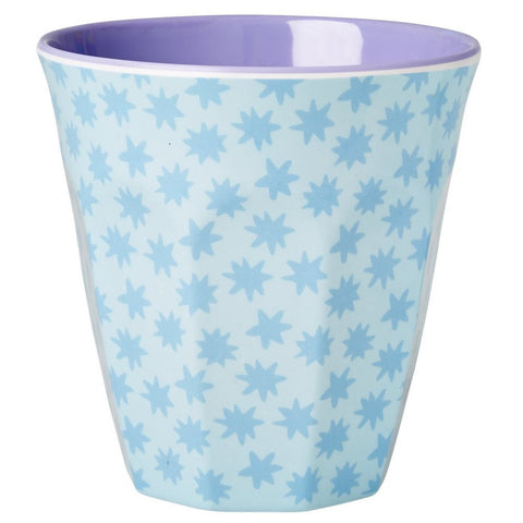 Medium Melamine Cup in Two Tone Stardust Print