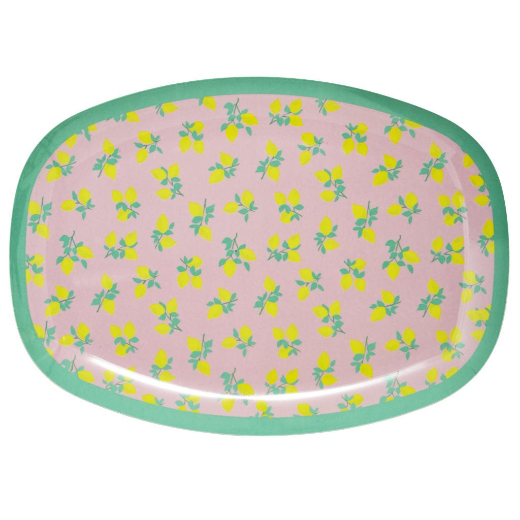Lemon Print Melamine Set